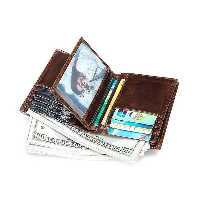 Mặt trong của mẫu ví đứng nam D249A