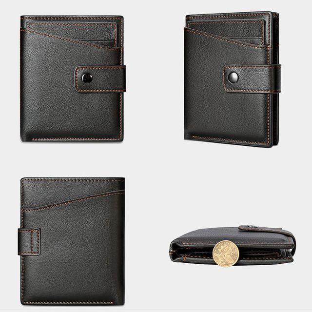 Form dáng chuẩn, bề mặt trơn tru của ví nam D610D