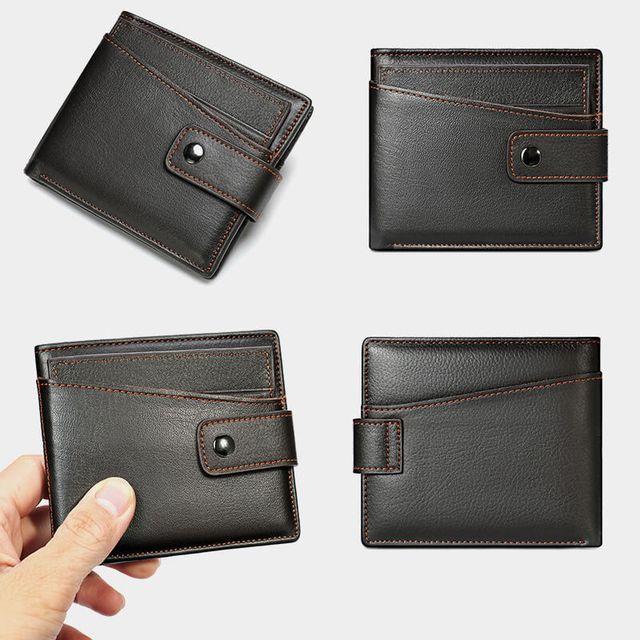 Form dáng sang trọng và đẹp mắt của mẫu ví nam da bò D610C